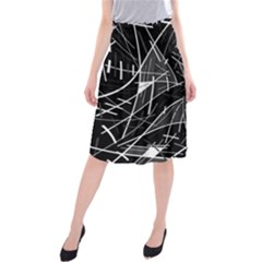 Gray abstraction Midi Beach Skirt