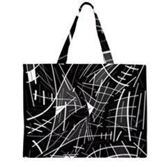 Gray abstraction Large Tote Bag