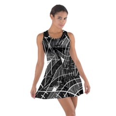 Gray abstraction Racerback Dresses
