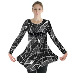 Gray abstraction Long Sleeve Tunic