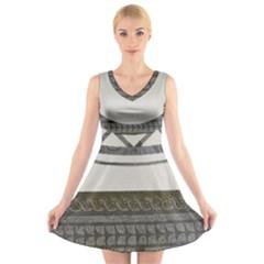 Fishbourne V-Neck Sleeveless Dress