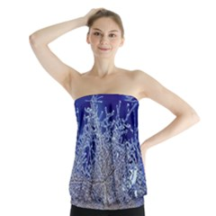crystalline branches Strapless Top