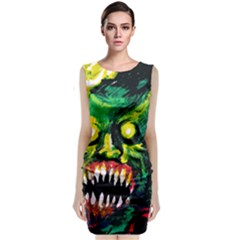 Horrific Terrific Nightmare Sleeveless Midi Dress