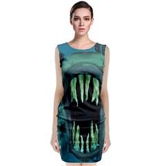 Mega Piranha Sleeveless Midi Dress