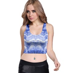 Tie Dye Indigo Racer Back Crop Top