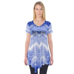 Tie Dye Indigo Short Sleeve Tunic