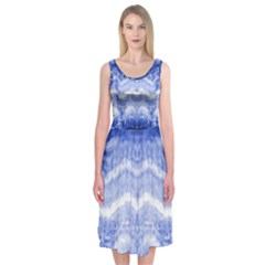 Tie Dye Indigo Midi Sleeveless Dress