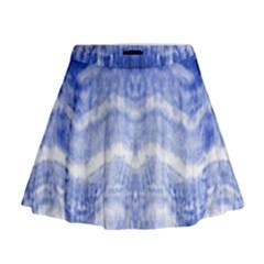 Tie Dye Indigo Mini Flare Skirt