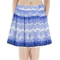 Tie Dye Indigo Pleated Mini Mesh Skirt(p209)
