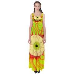 Scleral Hemorrhage Empire Waist Maxi Dress