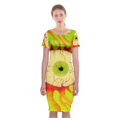 Scleral Hemorrhage Classic Short Sleeve Midi Dress