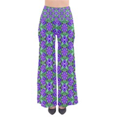 Pretty Purple Flowers Pattern Pants