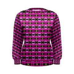 Pretty Pink Flower Pattern Women s Sweatshirt