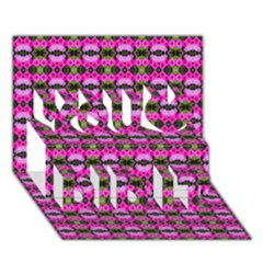 Pretty Pink Flower Pattern You Did It 3d Greeting Card (7x5)