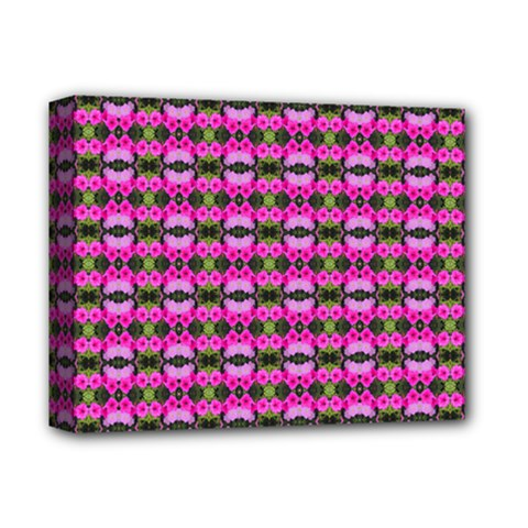 Pretty Pink Flower Pattern Deluxe Canvas 14  x 11