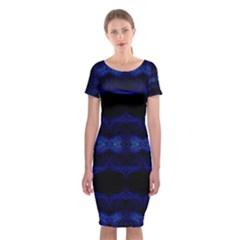 ANCIENT WHO Classic Short Sleeve Midi Dress