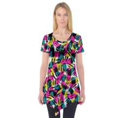 Kate Tribal Abstract Short Sleeve Tunic