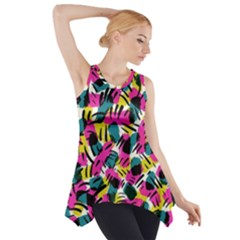 Kate Tribal Abstract Side Drop Tank Tunic