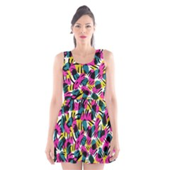 Kate Tribal Abstract Scoop Neck Skater Dress