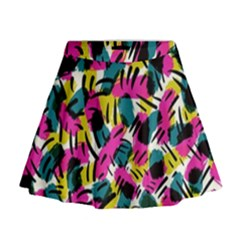 Kate Tribal Abstract Mini Flare Skirt