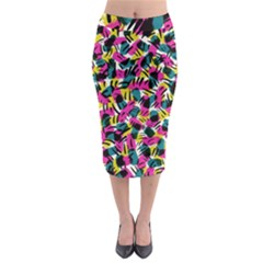 Kate Tribal Abstract Midi Pencil Skirt