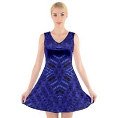 HYDROGEN V-Neck Sleeveless Skater Dress