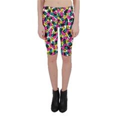 Kate Tribal Abstract Cropped Leggings