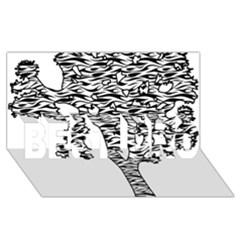 Jt Zebra Stipes 11 X 17 BEST BRO 3D Greeting Card (8x4)