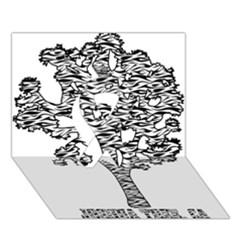 Jt Zebra Stipes 11 X 17 Ribbon 3D Greeting Card (7x5)