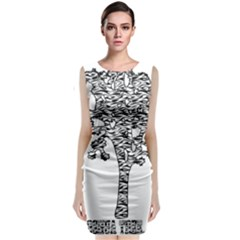 Jt Zebra Stipes 11 X 17 Classic Sleeveless Midi Dress