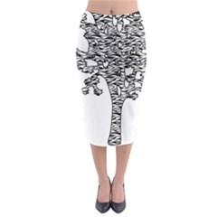 Jt Zebra Stipes 11 X 17 Midi Pencil Skirt