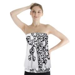 Jt Zebra Stipes 11 X 17 Strapless Top