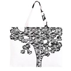 Joshua Tree Zebra Stripes Large Tote Bag