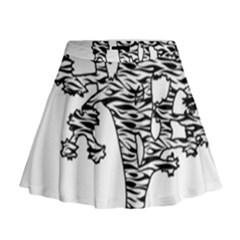 Joshua Tree Zebra Stripes Mini Flare Skirt
