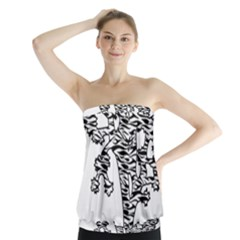 Joshua Tree Zebra Stripes Strapless Top