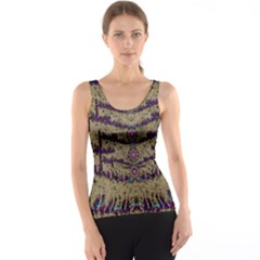 Lace Landscape Abstract Shimmering Lovely In The Dark Tank Top