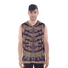 Lace Landscape Abstract Shimmering Lovely In The Dark Men s Basketball Tank Top