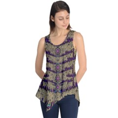 Lace Landscape Abstract Shimmering Lovely In The Dark Sleeveless Tunic