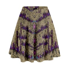 Lace Landscape Abstract Shimmering Lovely In The Dark High Waist Skirt