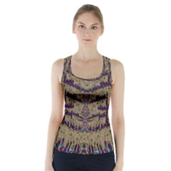 Lace Landscape Abstract Shimmering Lovely In The Dark Racer Back Sports Top