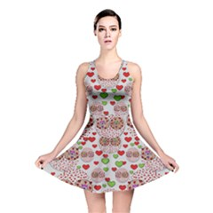 Love Bunnies In Peace And Popart Reversible Skater Dress