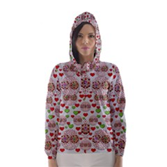 Love Bunnies In Peace And Popart Hooded Wind Breaker (women)