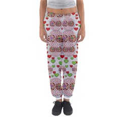 Love Bunnies In Peace And Popart Women s Jogger Sweatpants