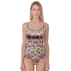 Love Bunnies In Peace And Popart Camisole Leotard