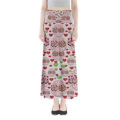 Love Bunnies In Peace And Popart Maxi Skirts