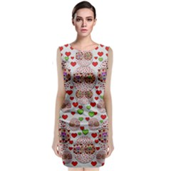 Love Bunnies In Peace And Popart Classic Sleeveless Midi Dress
