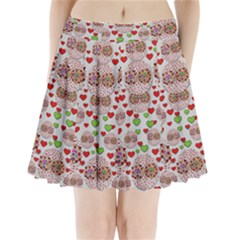 Love Bunnies In Peace And Popart Pleated Mini Mesh Skirt(P209)