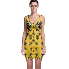 Disco Dancing In The  Tribal Nature  Sleeveless Bodycon Dress