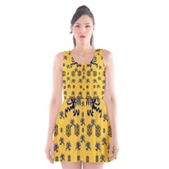 Disco Dancing In The  Tribal Nature  Scoop Neck Skater Dress