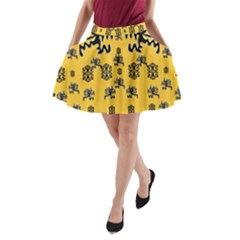 Disco Dancing In The  Tribal Nature  A-Line Pocket Skirt